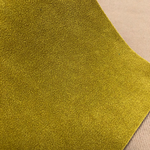 Dark Mustard Yellow Jewel Faux Suede Sheet