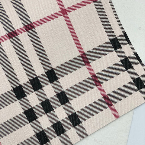 Closeout Plaid Faux Leather Sheet