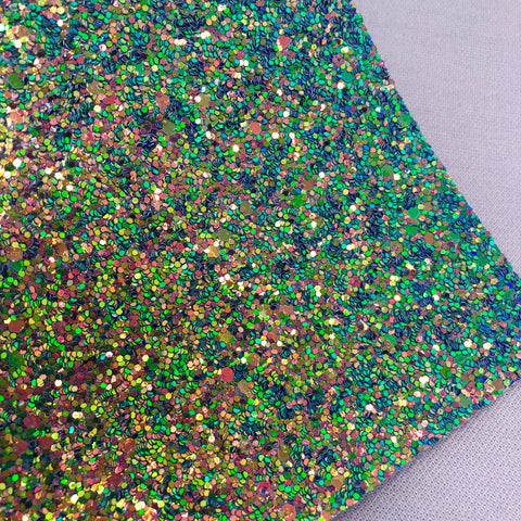 Forest Green Chunky Glitter Sheet