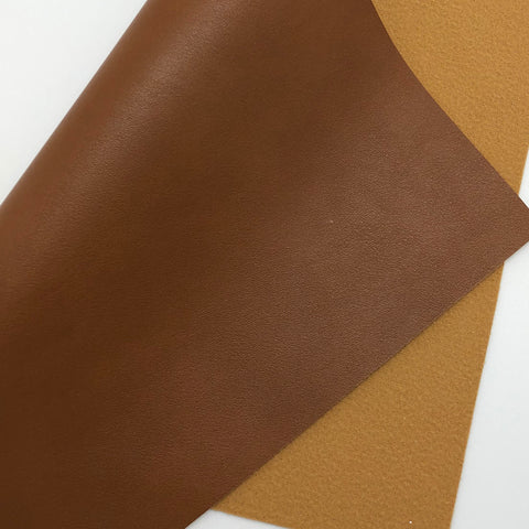 Mocha Latte Smooth Faux Leather