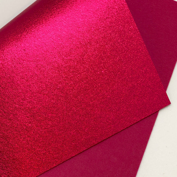 Metallic Hot Pink Felt