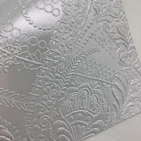 Metallic Pearl Embossed Textured Faux Leather
