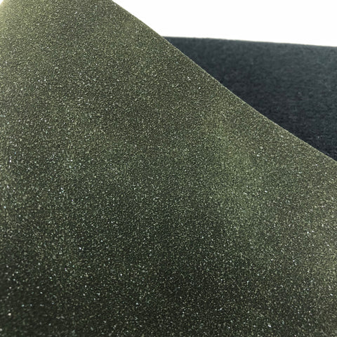 Shimmer Forest Green Faux Suede