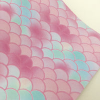 Spring Mermaid Scales Faux Leather