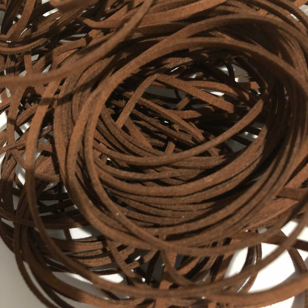 Dark Brown Faux Suede Cord 5 yards