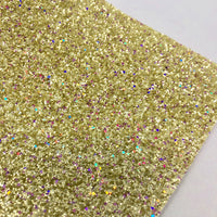 Magical Gold Chunky Glitter-spandex