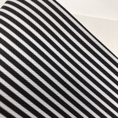Black and White Striped textured Faux Leather