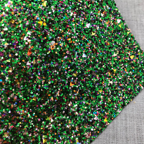 Christmas Lights Triangles Chunky Glitter