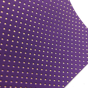 Imperfect Purple and Gold Embossed Dots Canvas