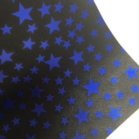 Royal Blue Stars Faux Leather