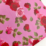 Valentine Roses Print Faux Leather