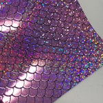 Pink HOLO Mermaid Scales Embossed Canvas