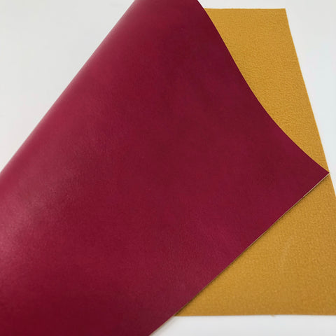 Berry Smooth Faux Leather