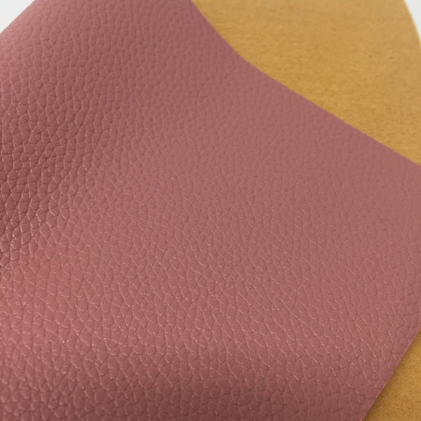 Mauve Textured Faux Leather