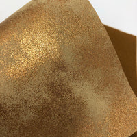 Toffee Metallic Sponged Faux Leather