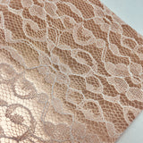 Imperfect Rose Gold Lace Textured Faux Leather