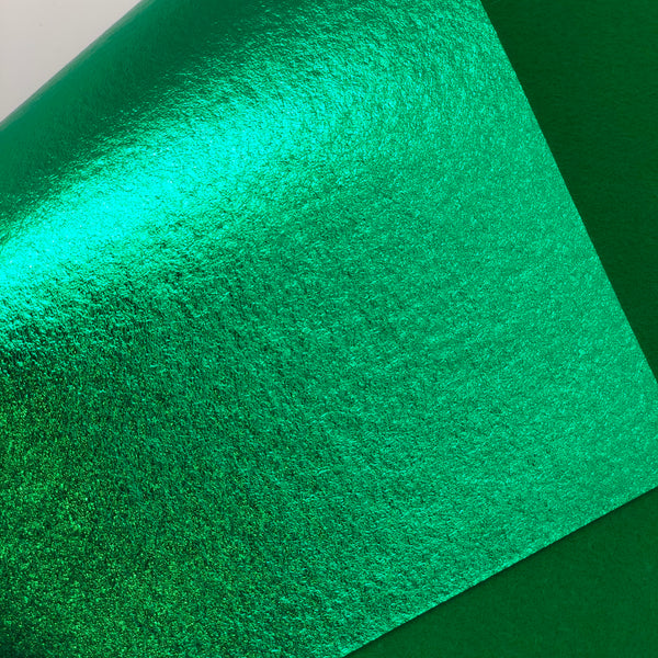 Metallic Bright Green Felt