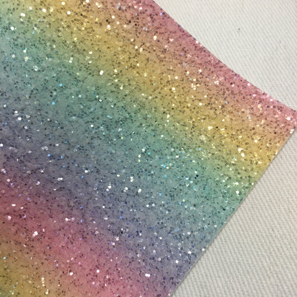 Imperfect Pastel Rainbow Chunky Glitter