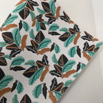 Tropical Leaves Faux Leather