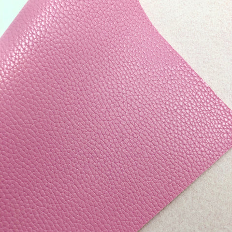 Pink Textured Faux Leather