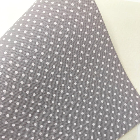 Imperfect Classic Grey Polka Dots Faux Leather