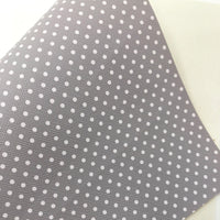 Classic Grey Polka Dots Faux Leather