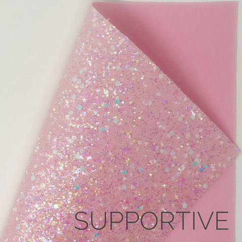 Supportive Shapes Chunky Glitter