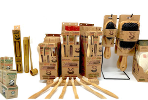 Senzabamboo's line of eco-friendly oral care, toothbrushes, silk dental floss, bamboo hairbrushes, bamboo makeup brush set.  Based in Seattle making the world a better place one bathroom at a time.