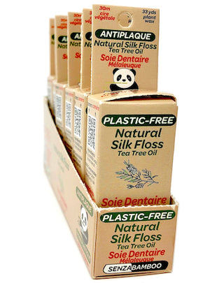 100% Plastic-Free Silk Floss - Tea Tree Oil