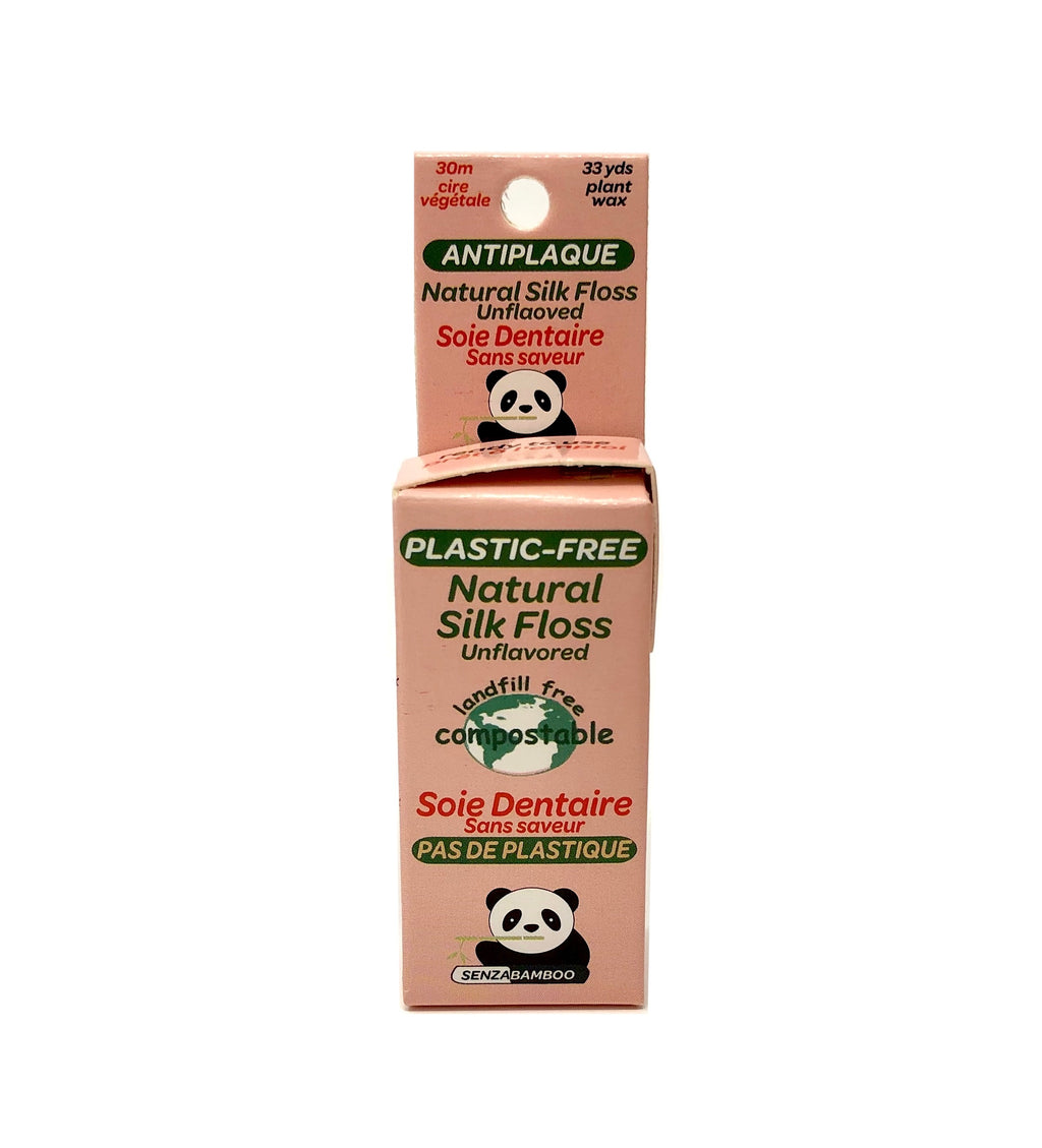 100% Plastic-Free Silk Dental Floss - Unflavored - Senzacare