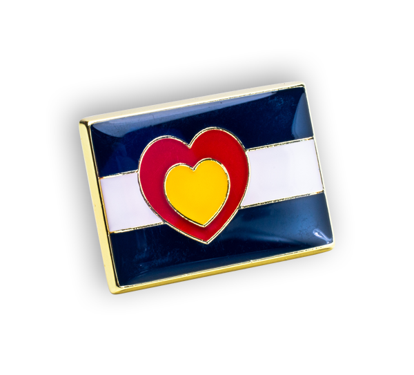 'Colorado Heart Flag' Pin