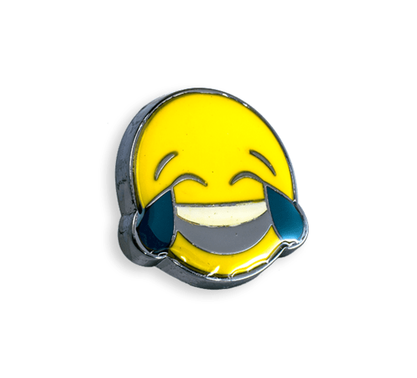 'Crying Laughing' Pin
