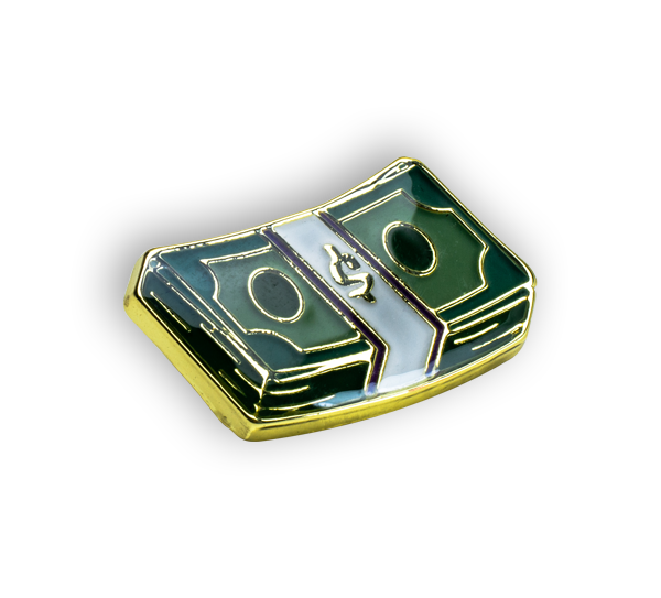 'Money Stack' Pin