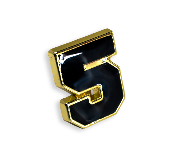 'Number 5' Pin