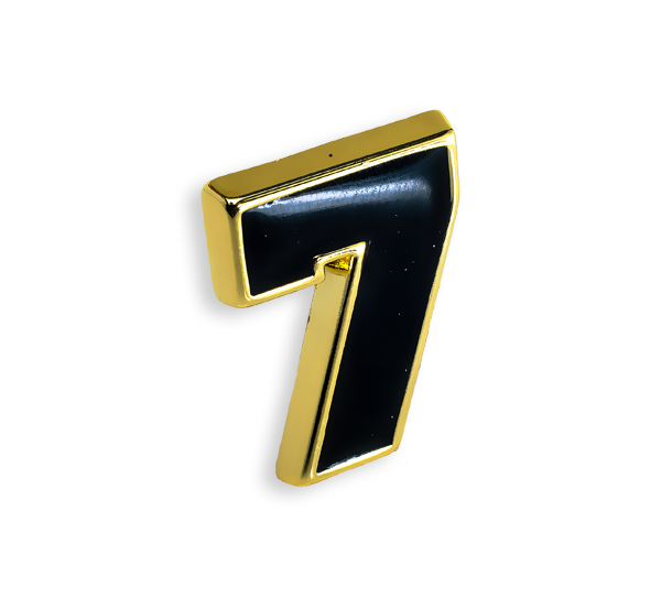 'Number 7' Pin