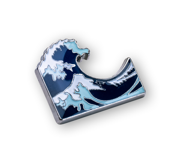 'Waves' Pin