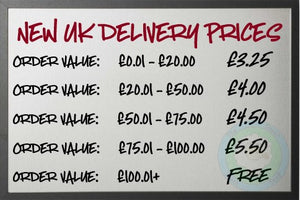 January 3rd 2020- New UK Delivery Prices