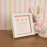 Personalised 'Boy' or 'Girl' (Occasion) Box Frame - Birth, Christening, Naming Day