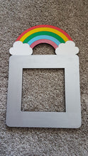 Personalised and Customisable Wooden Rainbow with Clouds Light Switch Surround
