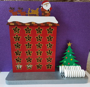 Customisable Wooden Christmas Count Down Advent Calendar