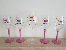 Unicorn Wine Glasses - Plain or Glitter options available