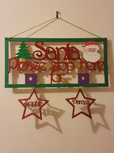 Personalised and Customisable Christmas 'Santa please stop here for' Sign