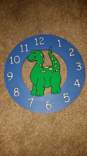 Customisable Wooden Dinosaur Clock