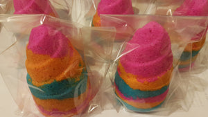 Fizzy Rainbow Sherbet Unicorn Horn Bath Bomb - Suitable for Vegans
