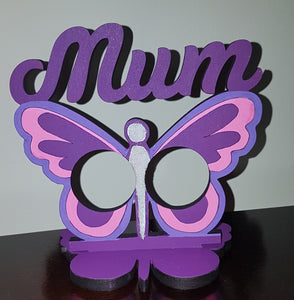 Customisable Butterfly 'Mum' Ferrero Rocher/Lindt Chocolate Holder on a Stand (Chocs not inc.)