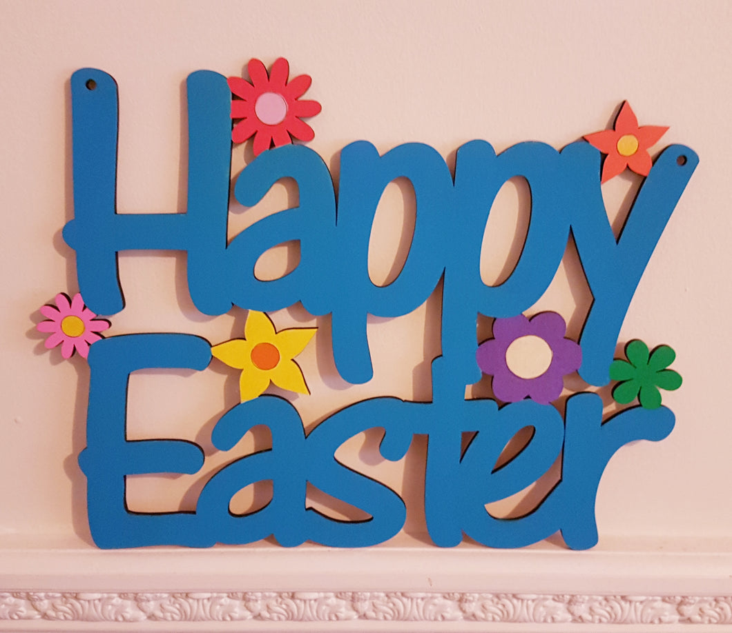 Customisable Wooden 'Happy Easter' Sign