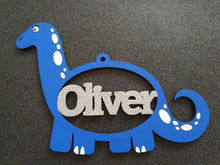 Personalised and Customisable Wooden Dinosaur Name Decoration