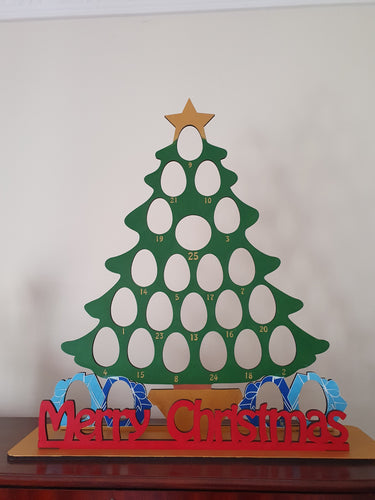 Christmas Tree Kinder Egg and Chocolate Orange Christmas Advent Calendar (Chocs not included)