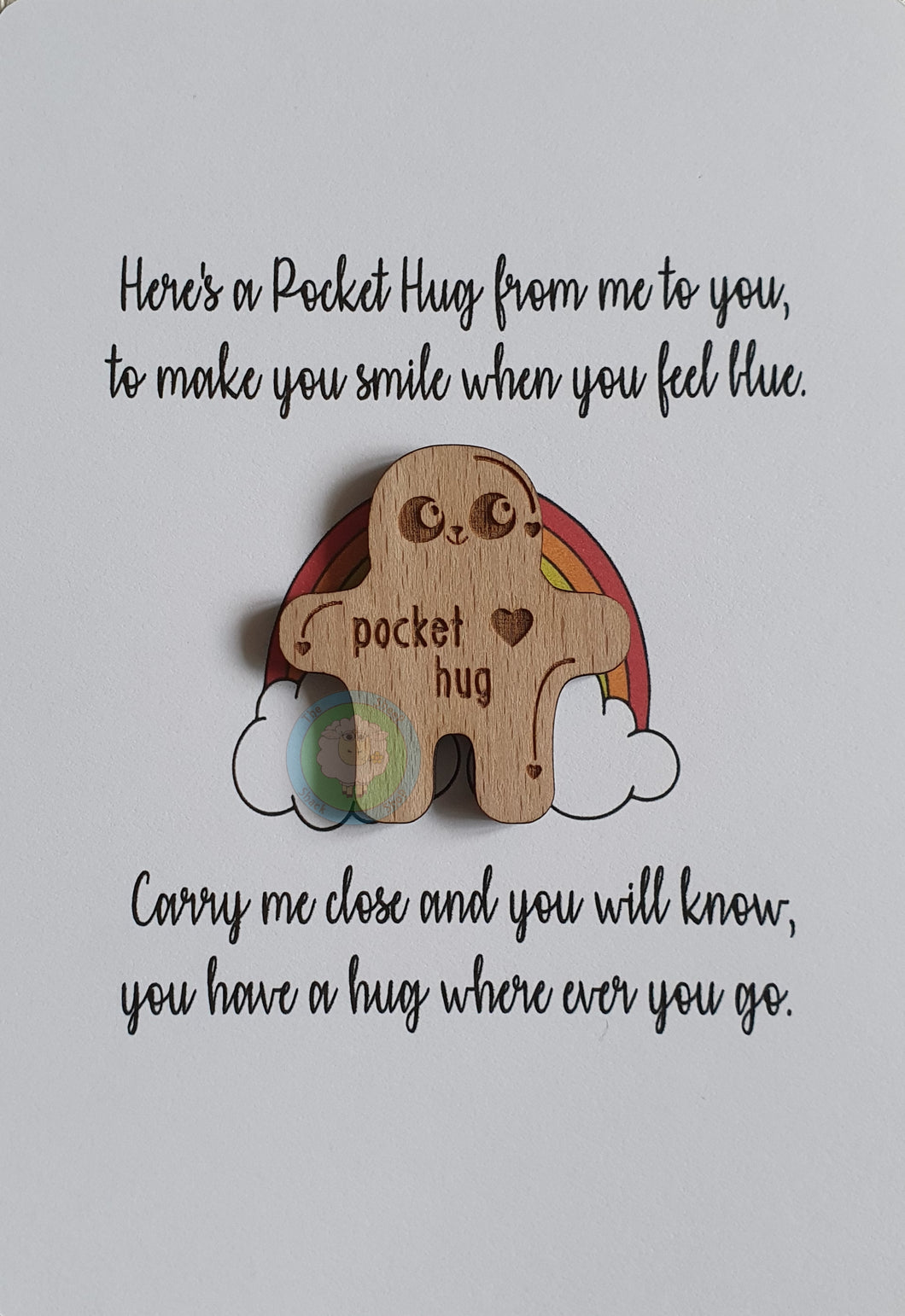 Wood Veneer Pocket Hug(s) 4cm (Free Shipping - UK Only)