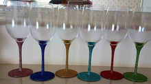 Glitter Stem Wine Glasses (Small) with FREE princess silhouette decal